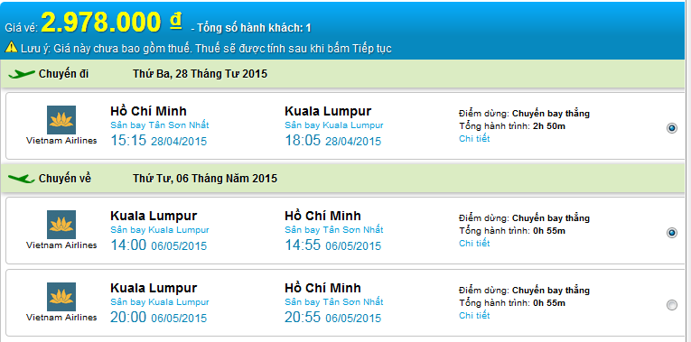 HCM-kuala Vietnam