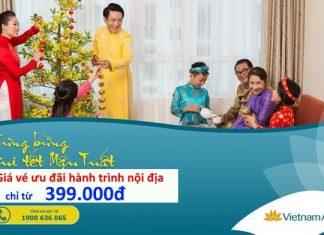 Vietnam Airlines ưu đãi hành trình bay nội địa