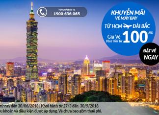 Vietnam Airlines khuyến mại vé máy bay đi Đài Bắc
