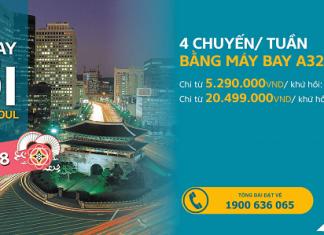 Vietnam Airlines khuyến mại vé máy bay đi Seoul
