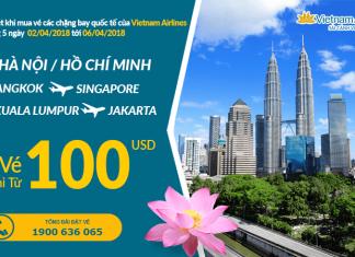 Vietnam Airlines khuyến mại vé chỉ từ 100 USD