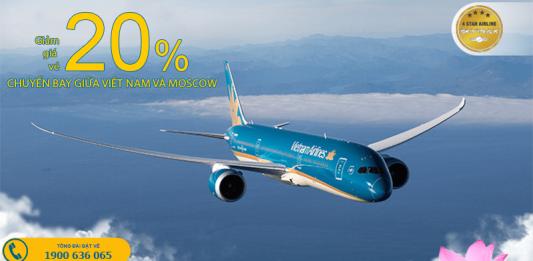 Vietnam Airlines khuyến mại vé máy bay đi Moscow