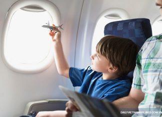 Những điều cần lưu ý khi trẻ em đi máy bay