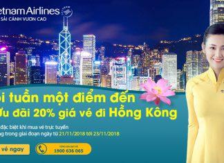 Giảm 20% giá vé khi mua vé đi Hongkong