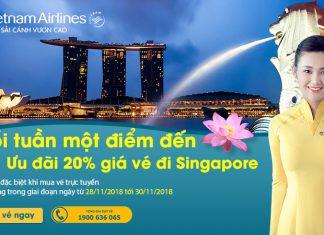 Khuyến mãi 20% khi mua vé đi Singapore