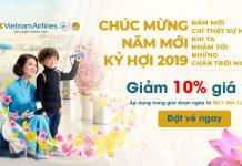Chương trình giảm giá 10% trên tất các các chuyến bay của Vietnam Airlines